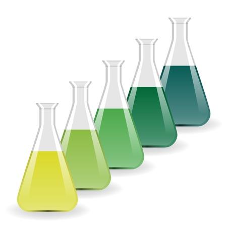 vector laboratory flasks Stock Vector - 11486899