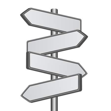 crossroads: vector direction sign Illustration