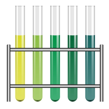 test glass: vector test tubes in holder Illustration