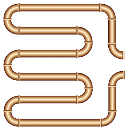 steel factory: vector copper pipe Illustration