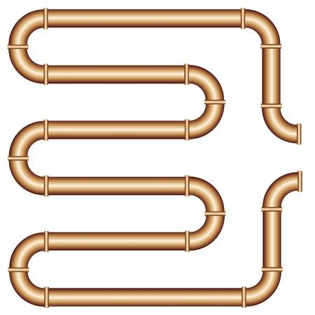 oil pipeline: vector de tubo de cobre Vectores