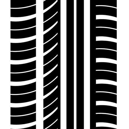 seamless trace of the tyre Illustration