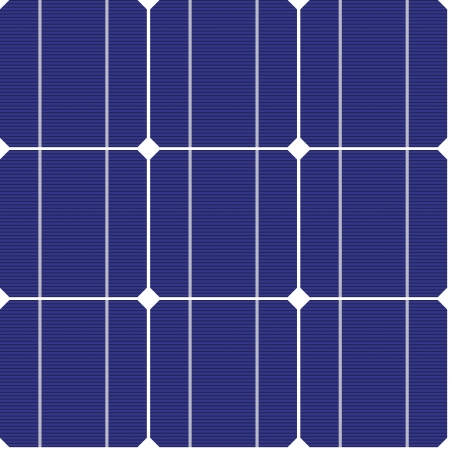 electric cell: vector photovoltaic seamless pattern