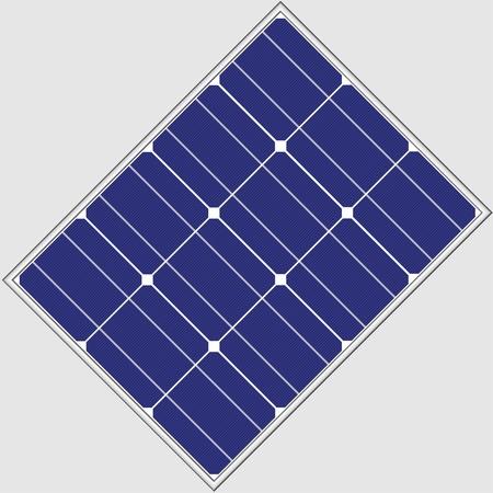 solar collector: vector photovoltaic panel