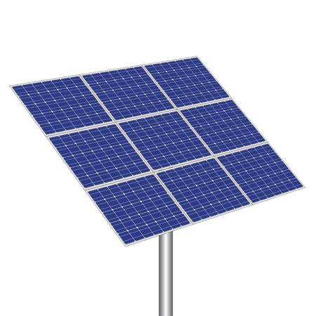photovoltaic: vector photovoltaic panel
