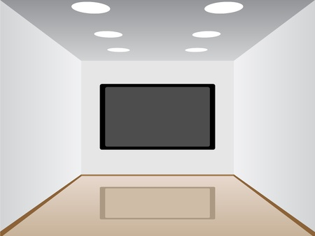 lcd display: vector room with a plasma tv Illustration