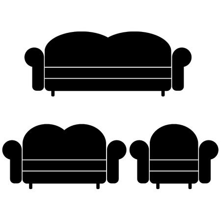 vector sofas and armchair Stock Vector - 11486203