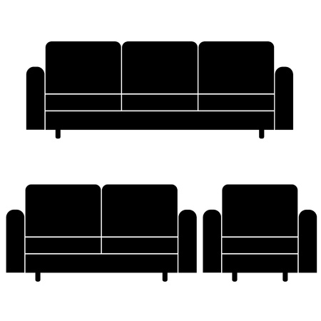 livingroom: vector sofas and armchair