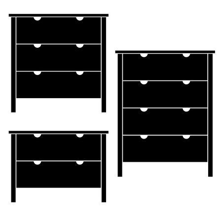 drawers: vector commodes