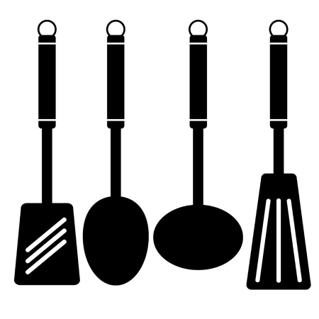 ladles: vector hollow-ware Illustration
