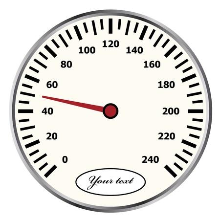 kph: vector speedometer