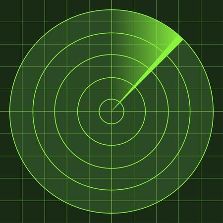 sonar: vettore radar schermo Vettoriali
