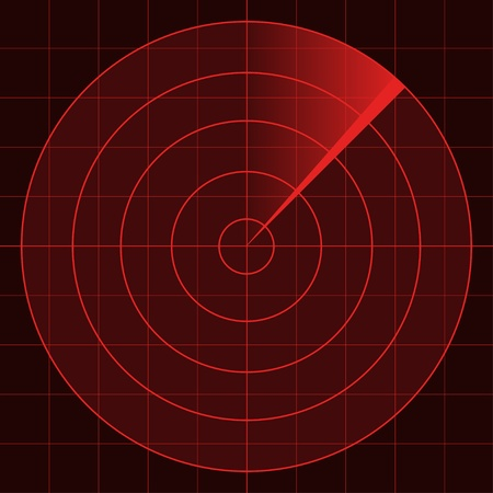 misil: vector de la pantalla del radar