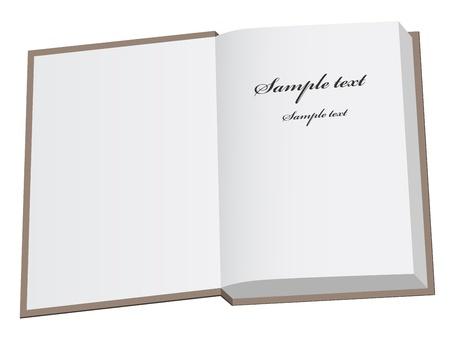 vettore libro