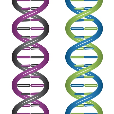 vector seamless DNA Stock Vector - 11486779