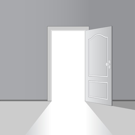 vector opened door Stock Vector - 11486368