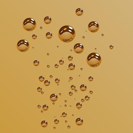 water bubbles: vector water bubbles