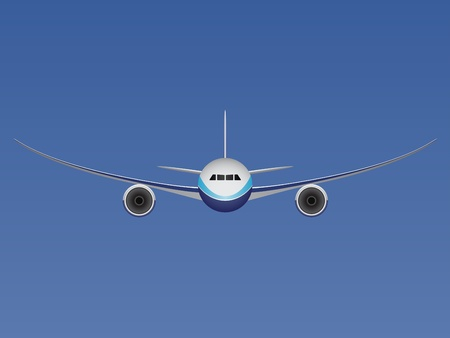 jetliner: vector aircraft Illustration