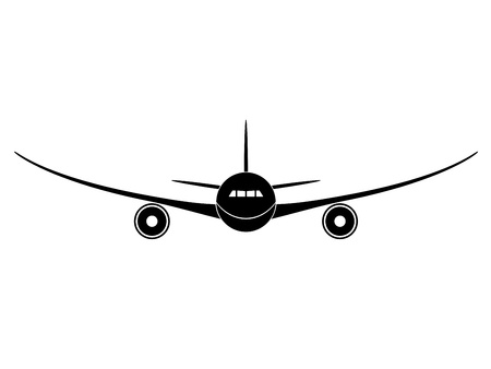 commercial airline: vector aircraft Illustration