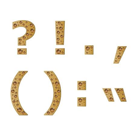 punctuation: vector bubble symbols