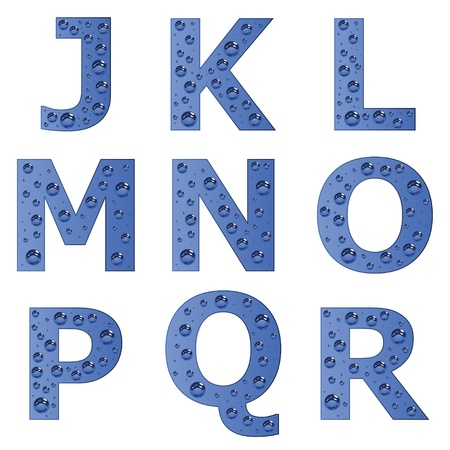 vector bubble alphabet - part 2 Stock Vector - 11487415