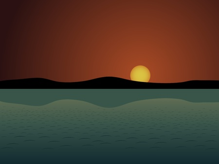 vector sunset Stock Vector - 11486693