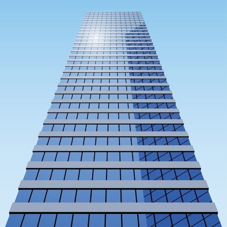 office building exterior: vector business building Illustration