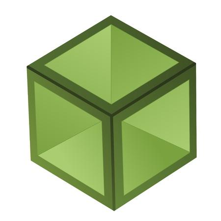 glass block: vector 3d cube