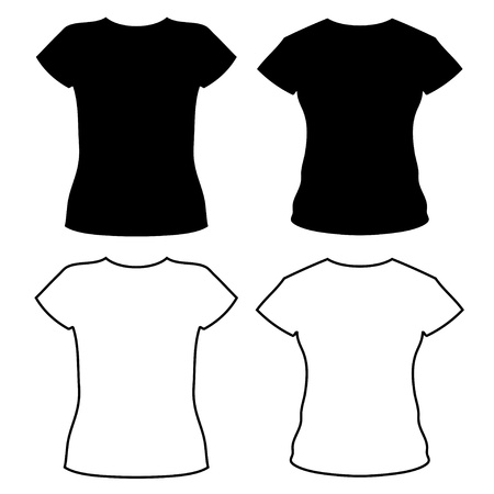 sleeved: vector t-shirt silhouettes
