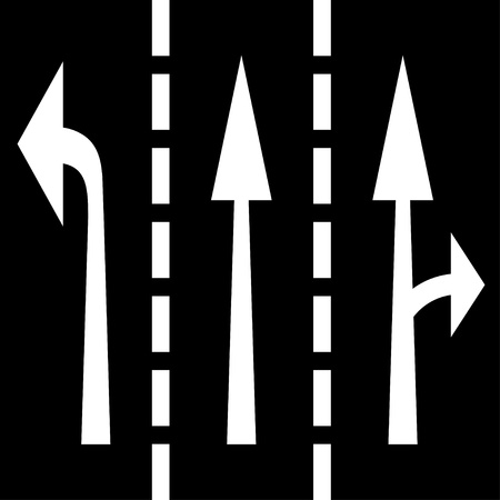 road marking: vector road arrows