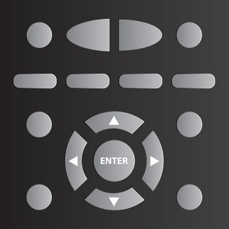 tv remote: вектор дистанционного управления ТВ Иллюстрация