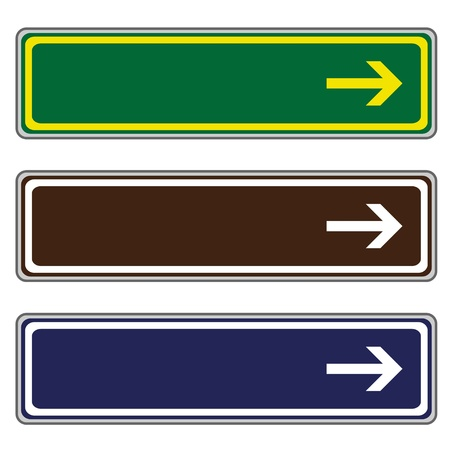 directional arrow: vector direction signs