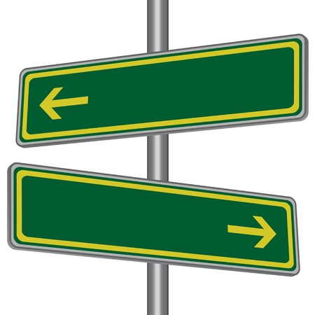 direction board: vector direction signs