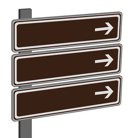 blank road sign: vector direction signs