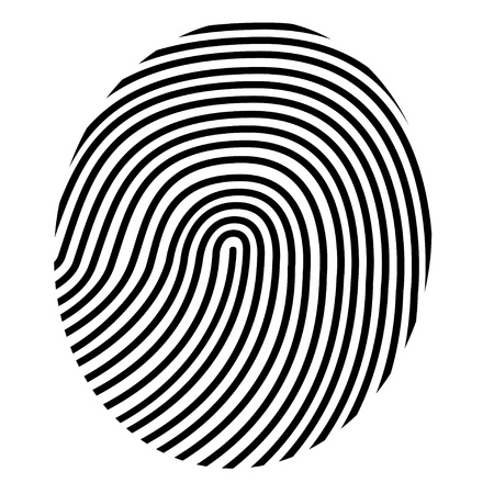 thumb print: drawing vector fingerprint