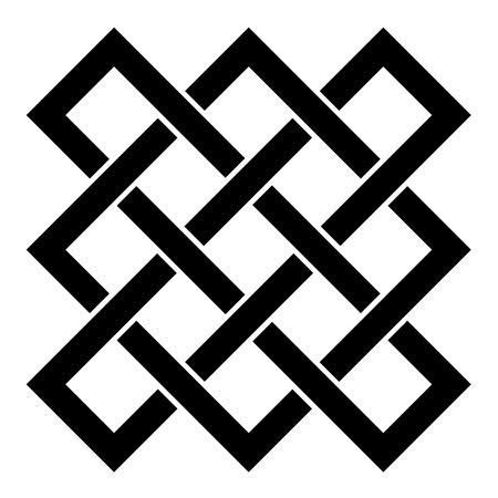 sin fin: vector interminable nudo celta