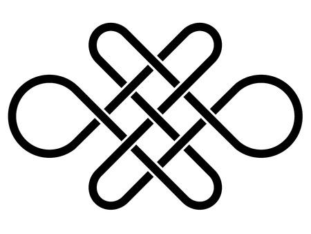 sin fin: vector de fin nudo celta