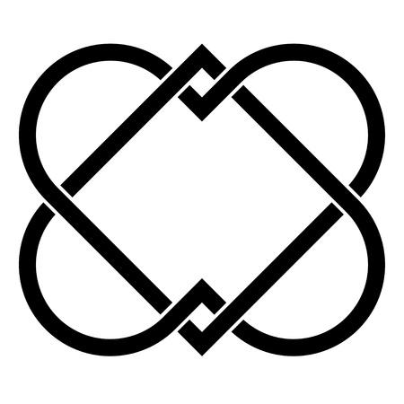 vector verbonden harten