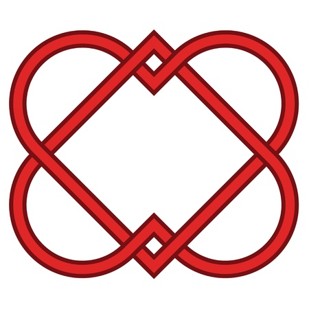celtic symbol: vector linked hearts Illustration