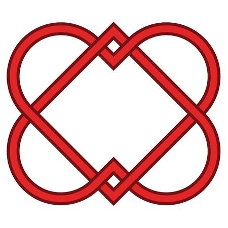 celtico: vettore legato cuori