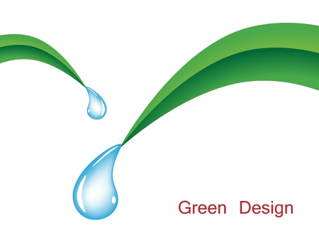 vector grass with water drops Stock Vector - 11486578