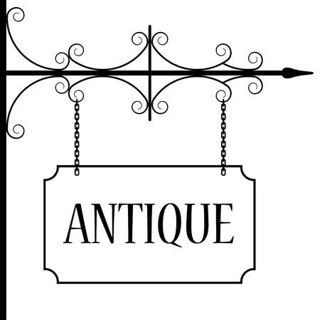 uithangbord: vector oude vintage uithangbord