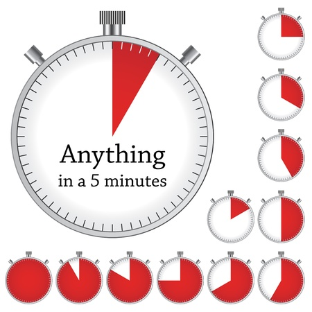 minute: Vector timer - easy change time every one minute