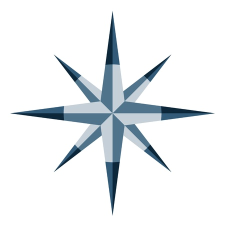 nautical star: Vector blue windrose