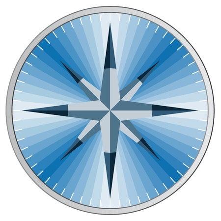 north star: Vector blue compass
