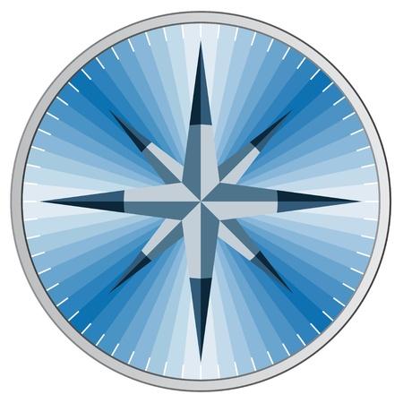Vector blue compass Vector