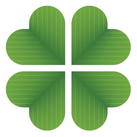 four leaf: vector de tr�bol de cuatro hojas