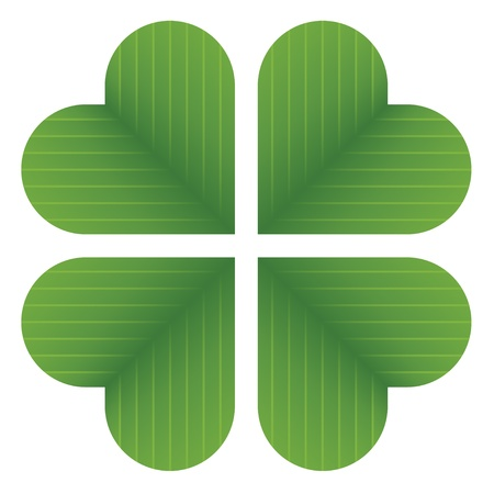 leaved: vector four leaf clover
