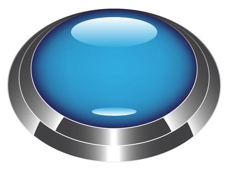 blue metallic background: vector web button