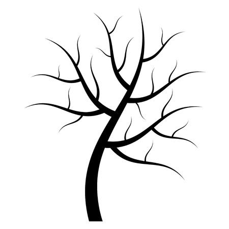 arboles blanco y negro: vector silueta de �rbol